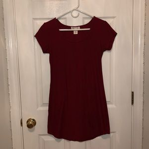 Fitted red dress